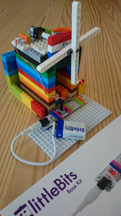 littleBits とLEGOで風車