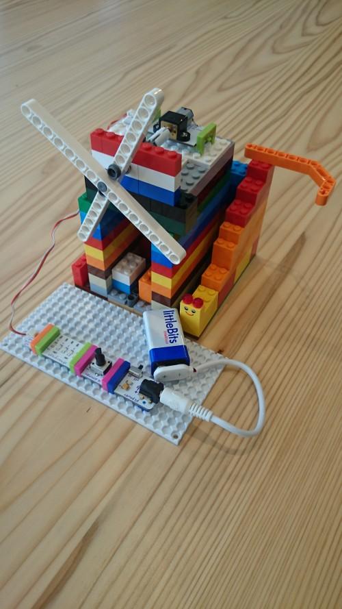 littleBits と LEGO (ふーちゃん)
