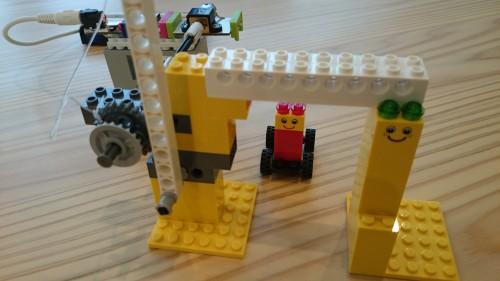 littleBitsでとLEGOで踏切を作ったら・・・(≧▽≦)