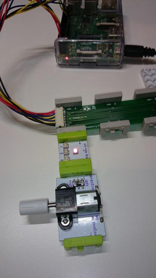 Node-RED と littleBits で LED フリッカー